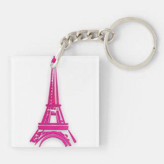 3d Tour Eiffel, clipart de la France Porte-clés