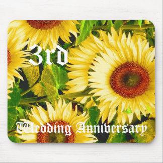 3ème anniversaire de mariage - tournesol tapis de souris