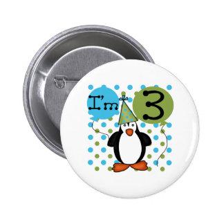 3ème Anniversaire de pingouin Badges