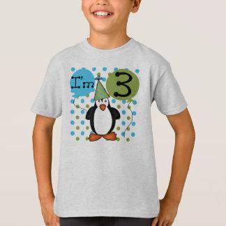 3ème anniversaire de pingouin t-shirt