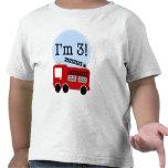 3ème Camion de pompiers d'anniversaire T-shirt