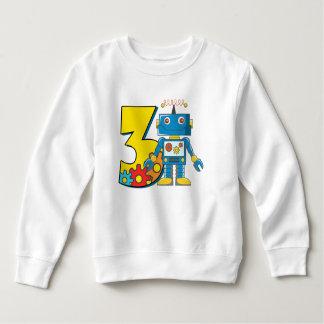 3ème Robot d'anniversaire Sweatshirt