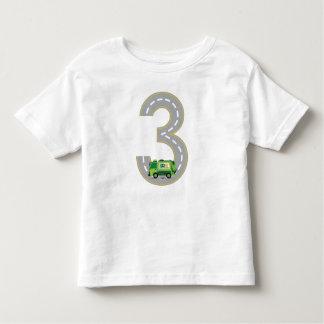 3ème T-shirt de camion à ordures d'anniversaire