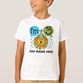 3ème T-shirt personnalisé d'anniversaire de lion