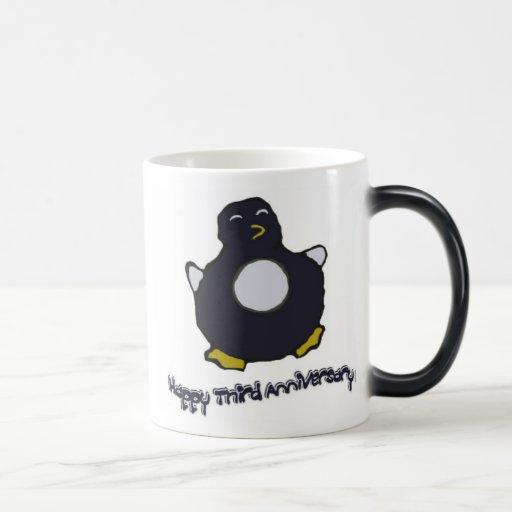 3ème Tasse de pingouin d'anniversaire