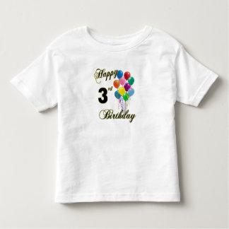 3èmes chemises d'anniversaire et habillement t-shirt pour les tous petits