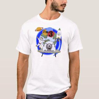 3èmes T-shirts et cadeaux d'anniversaire d'espace