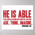 3h20 d'Ephesians d'affiche de bible il peut - Posters