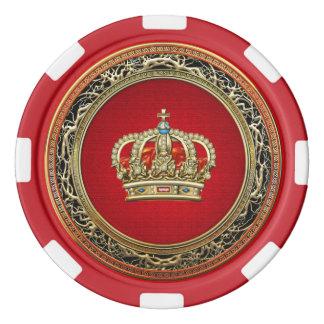[400] Prince-Princesse Roi-Reine Crown [Belg.Gold] Rouleau De Jetons De Poker