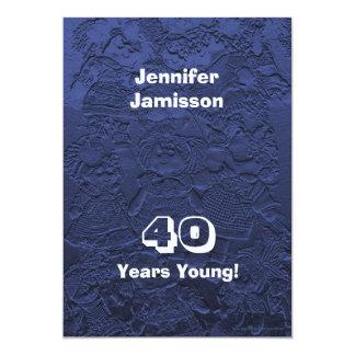40 ans de jeunes de fête d'anniversaire carton d'invitation  12,7 cm x 17,78 cm