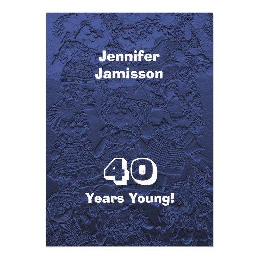 40 ans de jeunes de fête d'anniversaire invitation