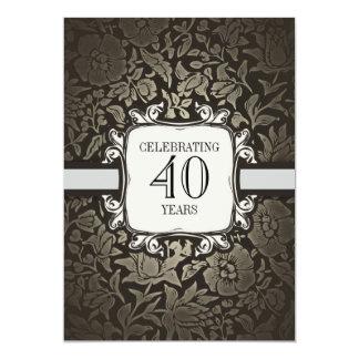 40 ans épousant des invitations de fête carton d'invitation  12,7 cm x 17,78 cm
