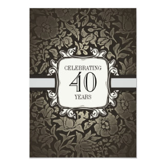 40 ans épousant des invitations de fête