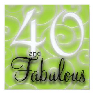40 est invitation fabuleuse d'anniversaire