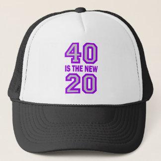 40 est les nouveaux 20 casquette
