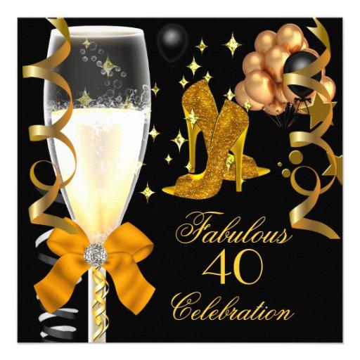 40 et chaussures fabuleuses d'anniversaire de noir bristols personnalisés