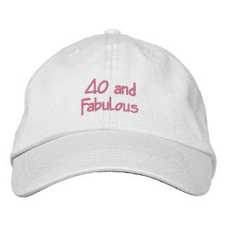 40 et fabuleux casquette brodée