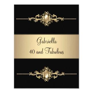 40 et fête d'anniversaire fabuleuse d'équilibre de carton d'invitation 10,79 cm x 13,97 cm
