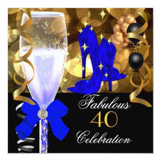 40 et fête d'anniversaire royale fabuleuse d'or de