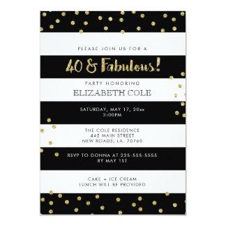 40 et invitations fabuleuses de fête