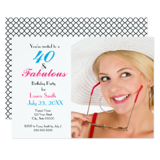 40 et quarantième invitation fabuleuse de fête