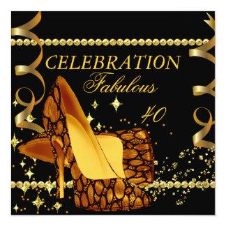 40 fabuleux l'or noir exotique gîte l'anniversaire faire-parts
