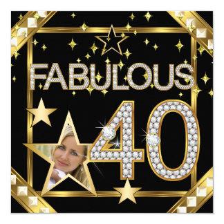 40 fabuleux rétro photo d'or de Hollywood du Carton D'invitation 13,33 Cm