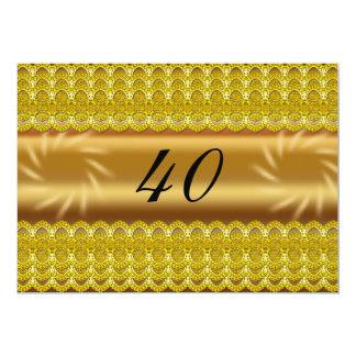 40 invitations d'anniversaire/fête d'anniversaire