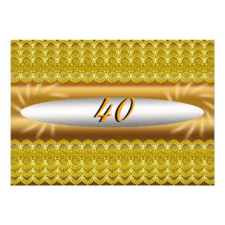 40 invitations de fête d anniversaire