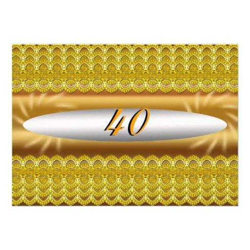 40 invitations de fête d'anniversaire