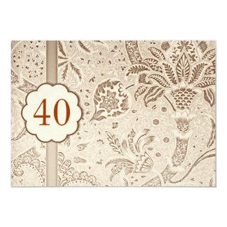 40 invitations de luxe vintages d'anniversaire