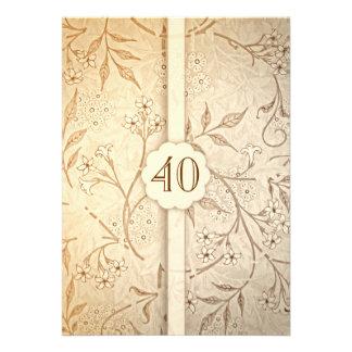 40 invitations florales vintages d anniversaire de