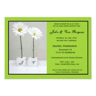 40 le huwelijksfeest dont c'est l'anniversaire carton d'invitation  12,7 cm x 17,78 cm