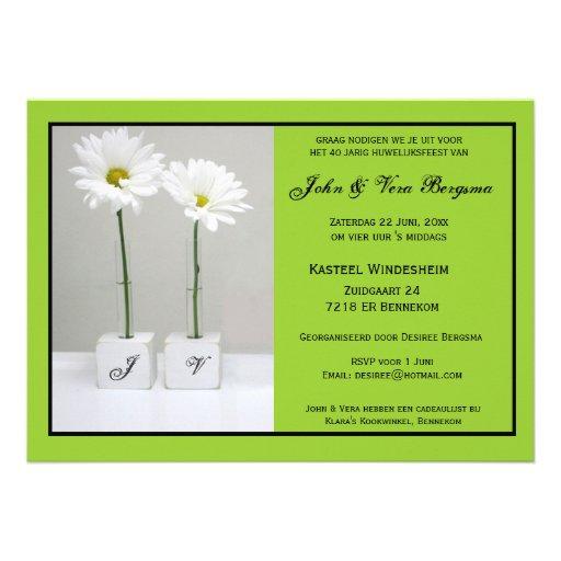 40 le huwelijksfeest dont c'est l'anniversaire invitations personnalisées