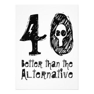 40 meilleur que l anniversaire drôle Q40 Faire-part Personnalisables