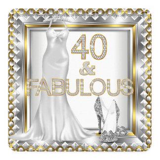 40 talons hauts fabuleux élégants de robe de Deco Carton D'invitation 13,33 Cm