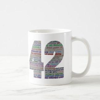 42 : La réponse finale Mug À Café