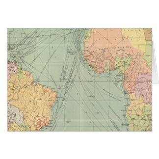 45 voies de communication, l'Océan Atlantique Carte De Vœux