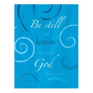 46:10 de psaume - soyez toujours et sachez que je carte postale