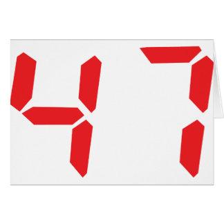 47 quarante-sept nombres numériques de réveil de cartes