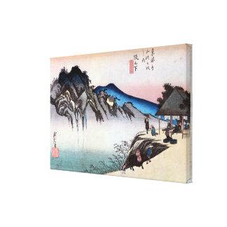 49. 坂下宿, 広重 Sakashita-juku, Hiroshige, Ukiyo-e Toiles