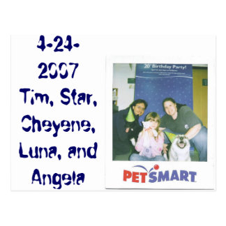 4-24-2007 Tim, étoile, Cheyene, Luna, et Angela Cartes Postales
