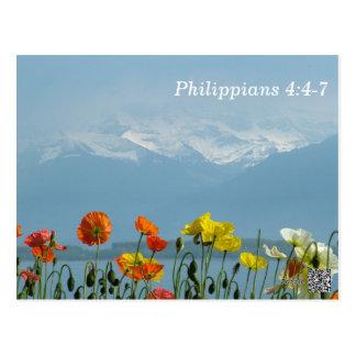 4:4 de Philippiens - carte de mémoire de 7