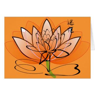 4 Carte pour notes-Fleur-Floraux
