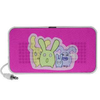 4 choses mignonnes T3T Haut-parleur Ordinateur Portable