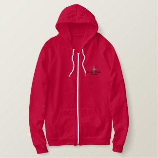 4 donné la croix sweat-shirt à capuche brodé