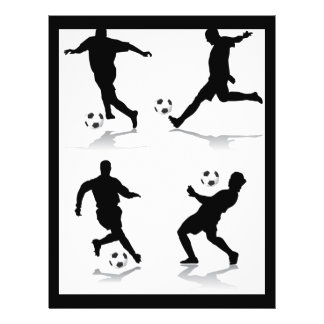 4 footballeurs prospectus 21,6 cm x 24,94 cm