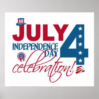 4 juillet affiche de célébration