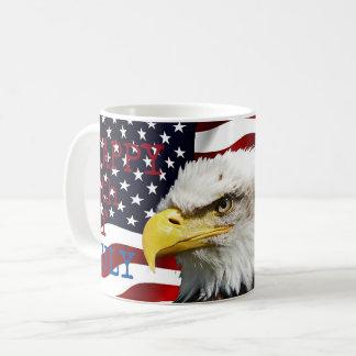 4 juillet Américain moderne Eagle de drapeau des Mug