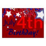 4 juillet anniversaire ! carte de vœux